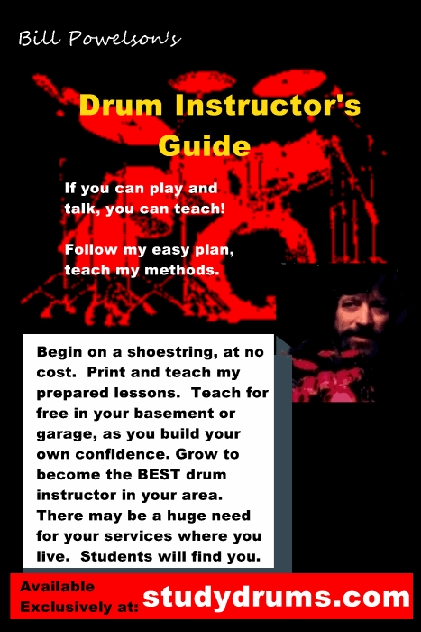 drum instructor's guide video drumset lessons